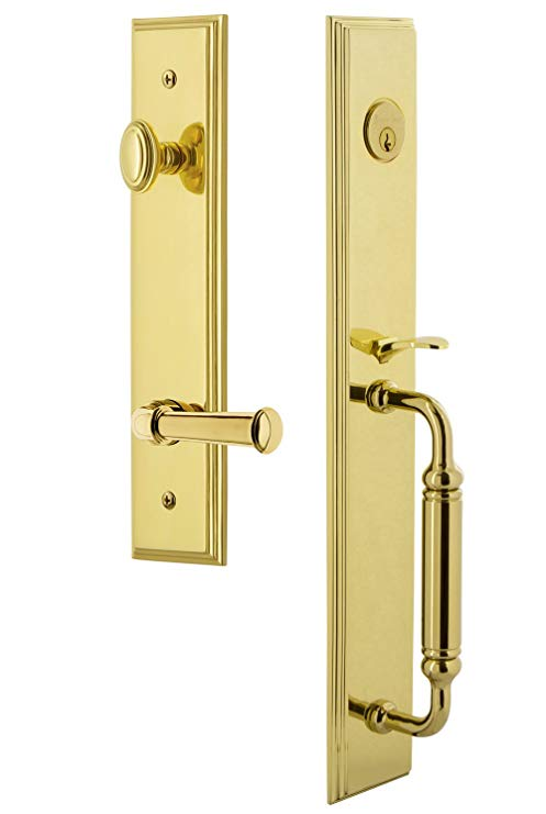 An image of Grandeur 843058 Brass Lever Lockset Lock
