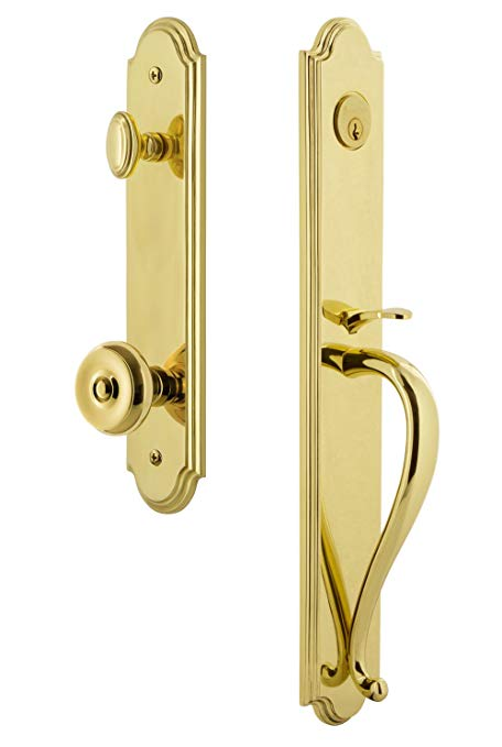 An image of Grandeur 843674 Brass Lever Lockset Door Lock