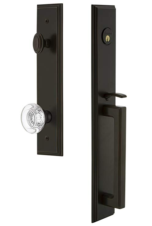 An image related to Grandeur 844718 Brass Bronze Lever Lockset Lock