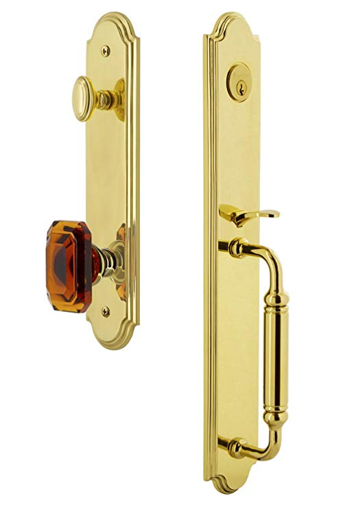 An image related to Grandeur 841786 Brass Lever Lockset Lock