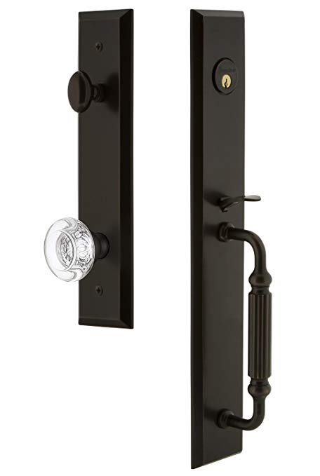 An image related to Grandeur 845801 Bronze Lever Lockset Lock