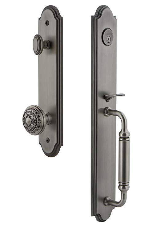 An image related to Grandeur 842122 Brass Pewter Lever Lockset Lock