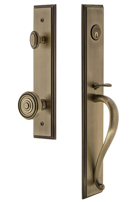 An image related to Grandeur 845446 Brass Lever Lockset Door Lock