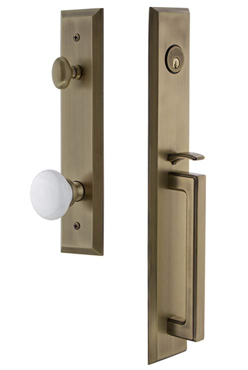 An image related to Grandeur 846349 Brass Lever Lockset Lock