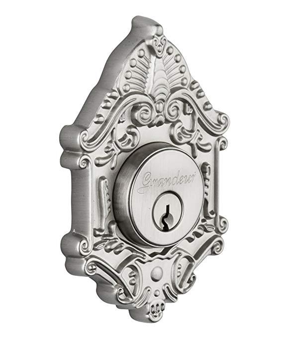 An image of Grandeur GVC-62-SN-KD House Satin Nickel Lock | Door Lock Guide