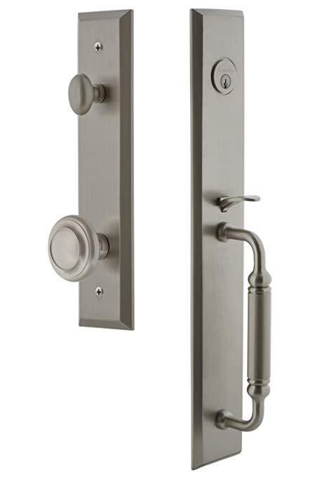 An image related to Grandeur 842646 Satin Nickel Lever Lockset Door Lock