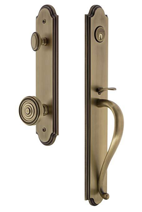 An image of Grandeur 844370 Brass Lever Lockset Lock