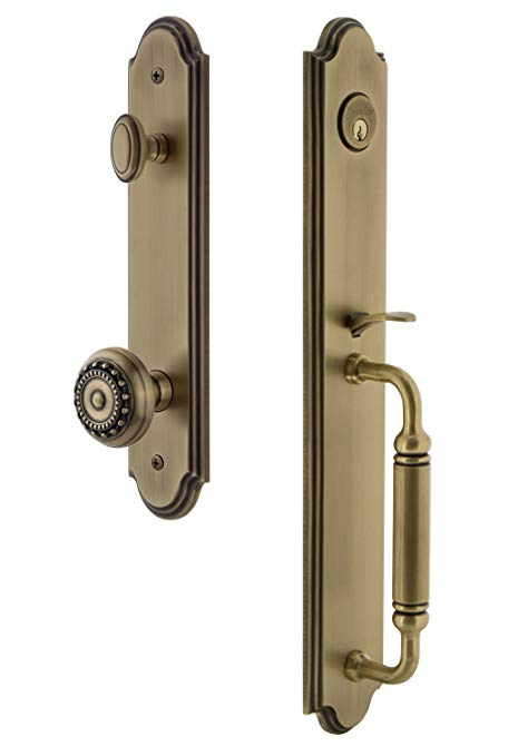 An image related to Grandeur 842057 Brass Lever Lockset Lock