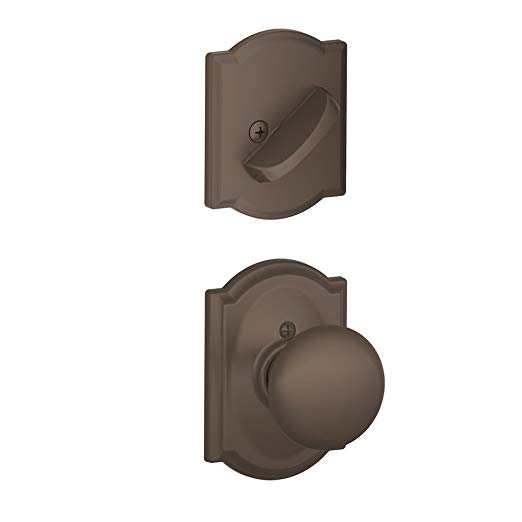 An image of Schlage F59PLY613CAM Oil-Rubbed Bronze Lock