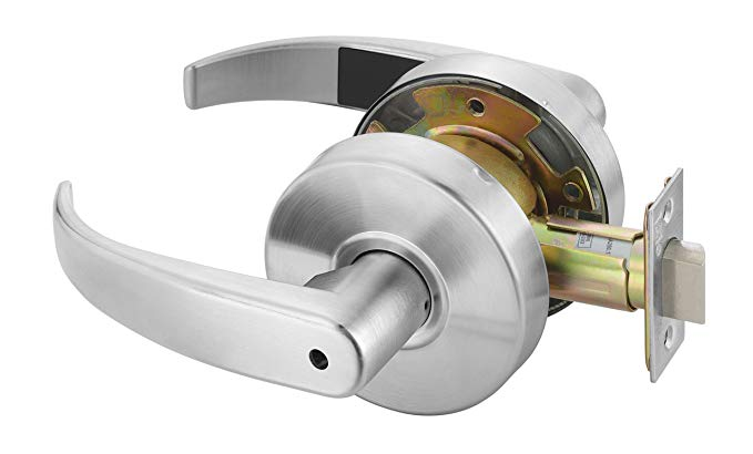 An image related to Yale PB4602LN LKST 497 Privacy Satin Chrome Lever Lockset Lock
