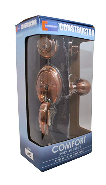 An image of Constructor CON3997 Entry Copper Lever Lockset Lock