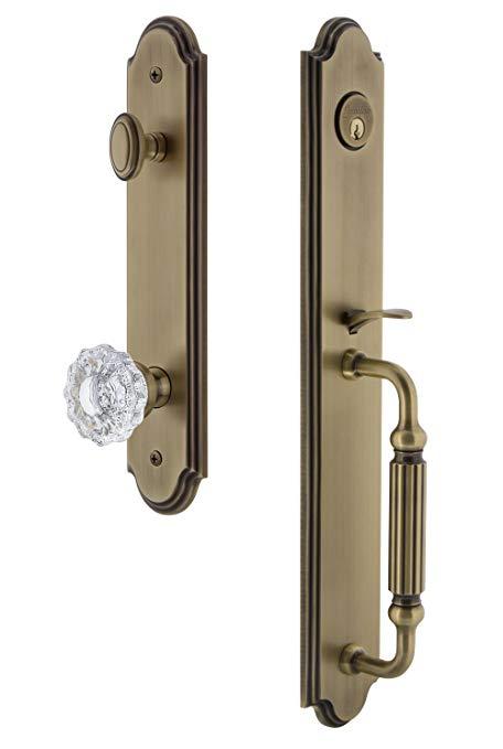 An image related to Grandeur 844427 Brass Lever Lockset Lock