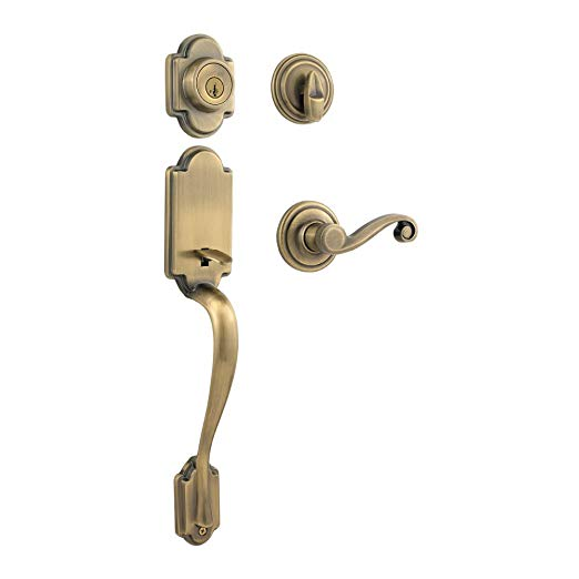 An image related to Kwikset 98001-095 Brass Lever Lockset Lock