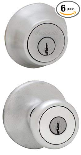 An image of Kwikset 96900-252 Entry Satin Chrome Lock