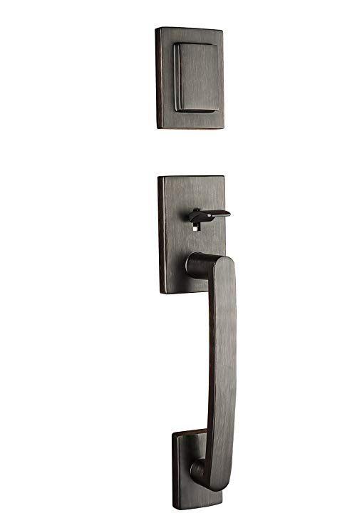 An image of Baldwin 91800-045 Brass Venetian Bronze Lever Lockset Lock