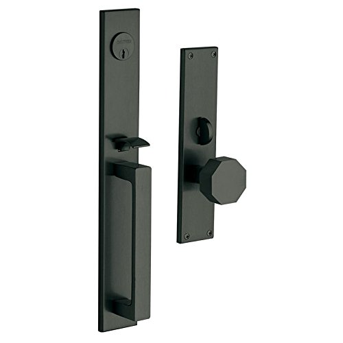 An image related to Baldwin 6570190ENTR Brass Satin Black Lock