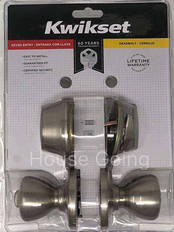 An image related to Kwikset 96900-376 Entry Satin Nickel Lock