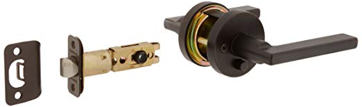 An image of Kwikset 155HFLRDT-11P Privacy Venetian Bronze Lever Lockset Lock