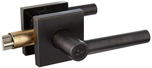An image of Kwikset 156MILSQT-11PS Entry Venetian Bronze Lever Lockset Lock | Door Lock Guide