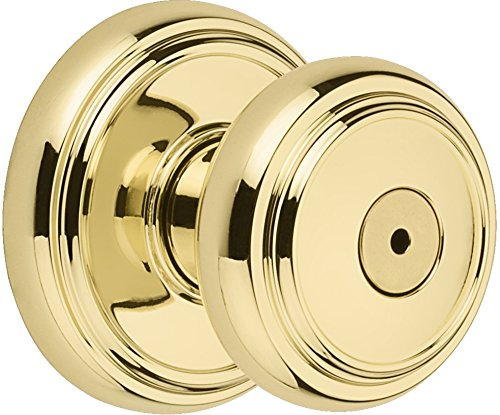 An image of Baldwin 93530-001 Bathroom Privacy Polished Lock
