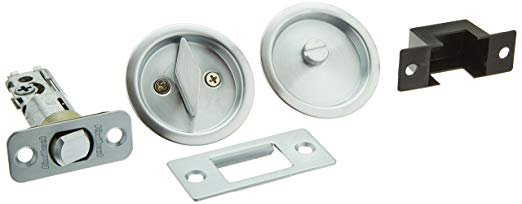 An image related to Kwikset 93350-021 Privacy Brushed Chrome Lock