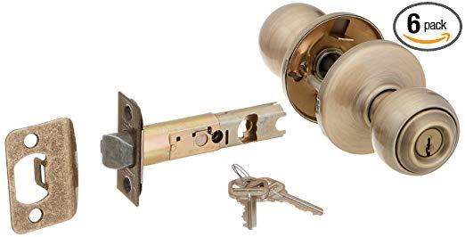 An image of Kwikset 400P-5 Entry Brass Lock | Door Lock Guide