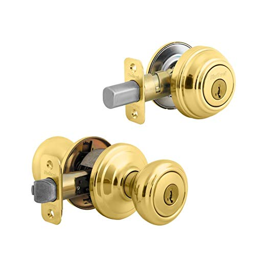 An image related to Kwikset 99910-045 Entry Polished Brass Lock