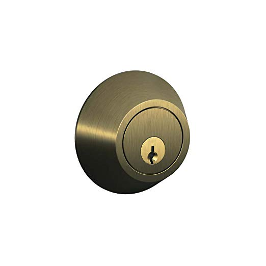 An image of Schlage JD60V609 Antique Brass Lock