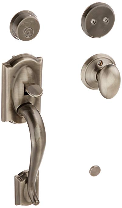 An image related to Schlage F93CAM620SIE Brass Lever Lockset Lock