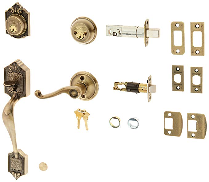 An image related to Schlage F62PAR609FLALH Brass Lever Lockset Lock