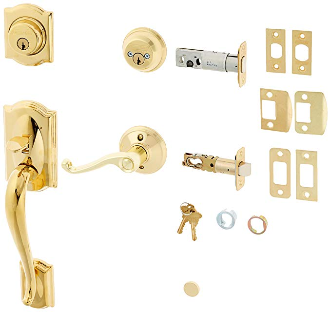 An image related to Schlage F62CAM505FLALH Polished Brass Lock