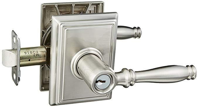 An image related to Schlage F51ABIR619ADD Entry Satin Nickel Lock