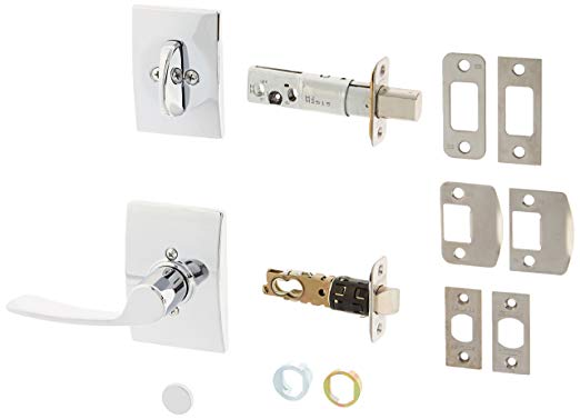 An image of Schlage F59MER625CENLH Chrome Effect Lever Lockset Lock | Door Lock Guide