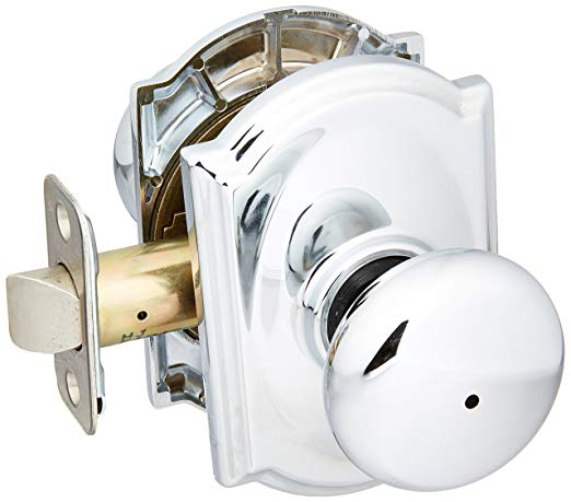 An image related to Schlage F40PLY625CAM Bathroom Privacy Polished Chrome Lever Lockset Lock
