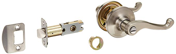 An image related to Schlage J40LAS619 Privacy Bronze Lever Lockset Lock