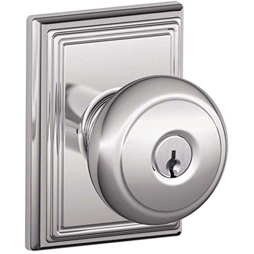 An image of Schlage F51AAND625ADD Entry Chrome Effect Lock