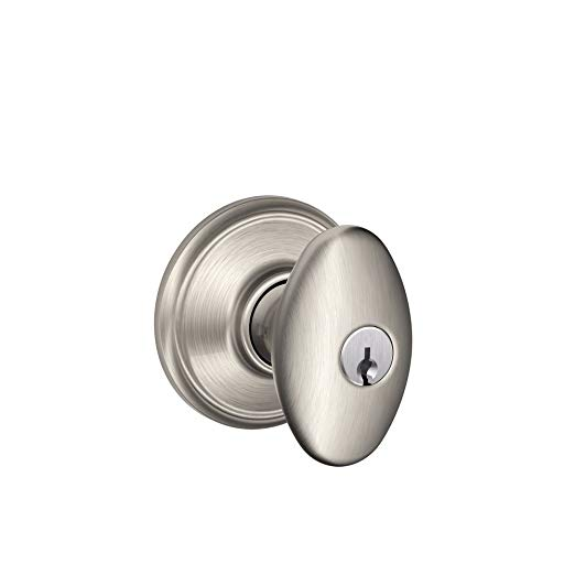 An image of Schlage F51VSIE619 Entry Satin Nickel Lock | Door Lock Guide
