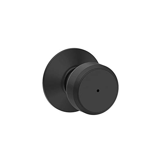 An image related to Schlage F40 BWE 622 Bathroom Privacy Black Lock