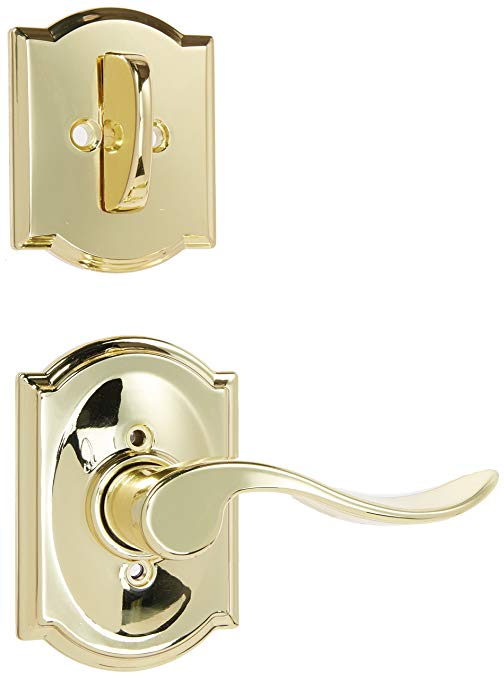 An image related to Schlage F59ACC605CAMRH Polished Brass Lever Lockset Lock