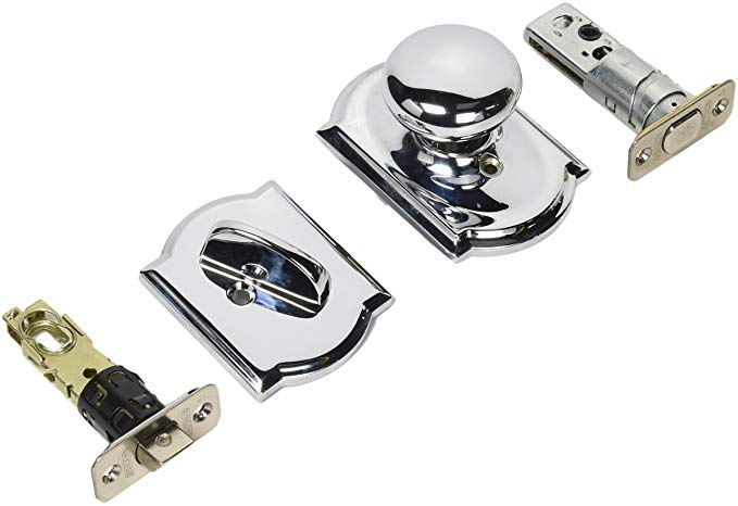 An image of Schlage F59PLY625CAM Chrome Effect Lock | Door Lock Guide
