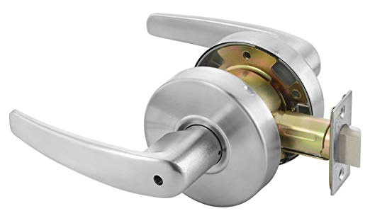 An image related to Yale MO4602 LKST 497 Privacy Satin Chrome Lever Lockset Lock