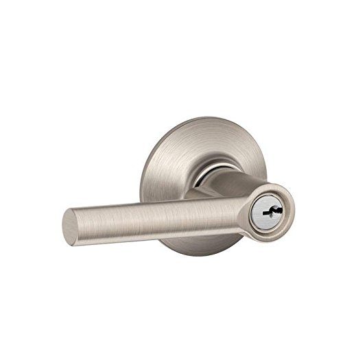 An image related to Schlage F51A BRW 619 Entry Satin Nickel Lock