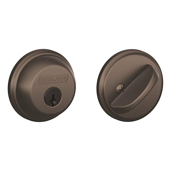 An image related to Schlage B60N613 Oil-Rubbed Bronze Lock
