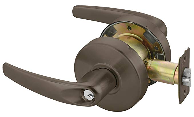 An image related to Yale MO4608LNX613E Entry Lever Lockset Cylindrical Lock
