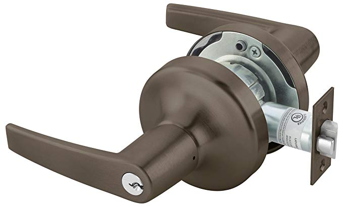 An image related to Yale MO4705LNX613E Dark Satin Bronze Lever Lockset Lock