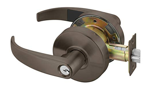 An image of Yale PB4607LNX613E Entry Lever Lockset Cylindrical Lock | Door Lock Guide