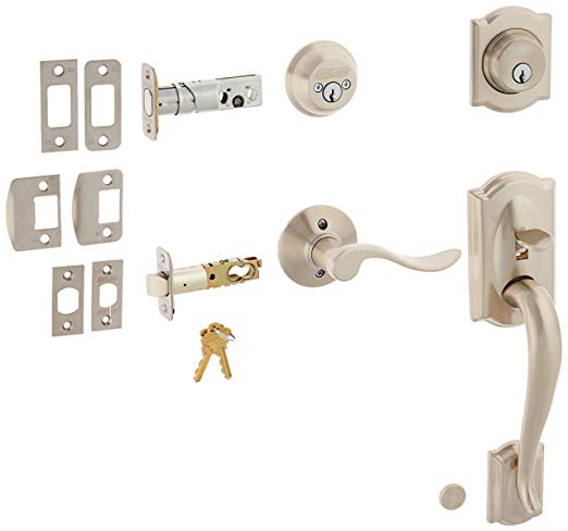 An image related to Schlage F62CAM619ACCRH Satin Nickel Lever Lockset Lock