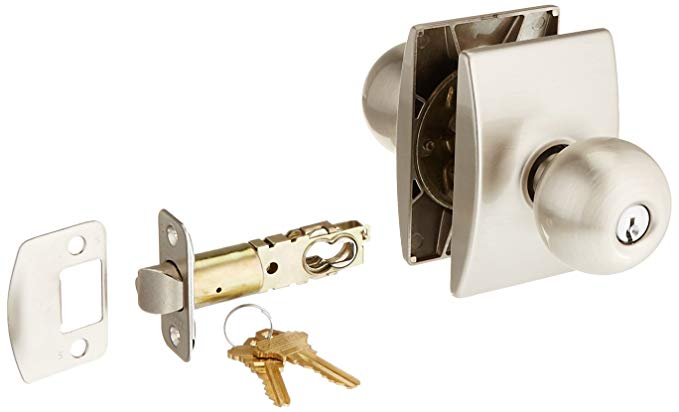 An image related to Schlage F51AORB619CEN Entry Satin Nickel Lock