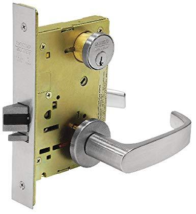 An image related to Sargent 8205 LNL 26D Plastic Satin Chrome Lever Lockset Door Lock
