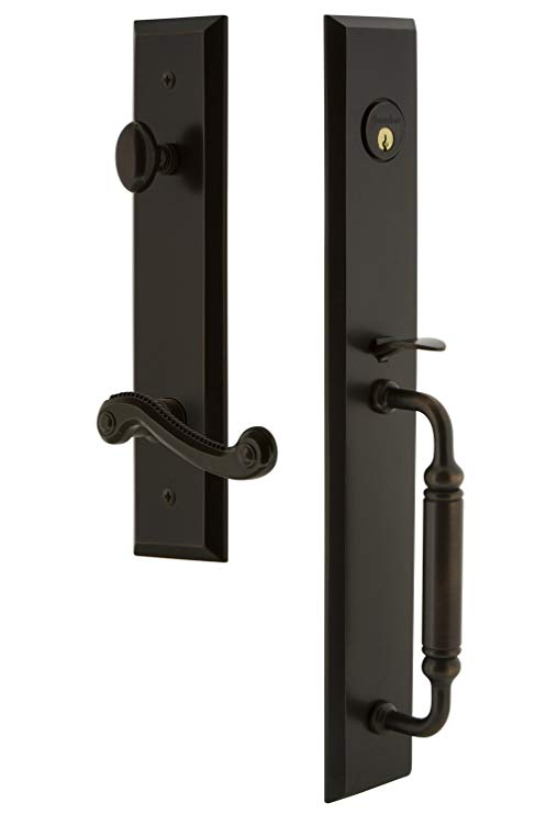 An image of Grandeur 843273 Brass Bronze Lever Lockset Lock